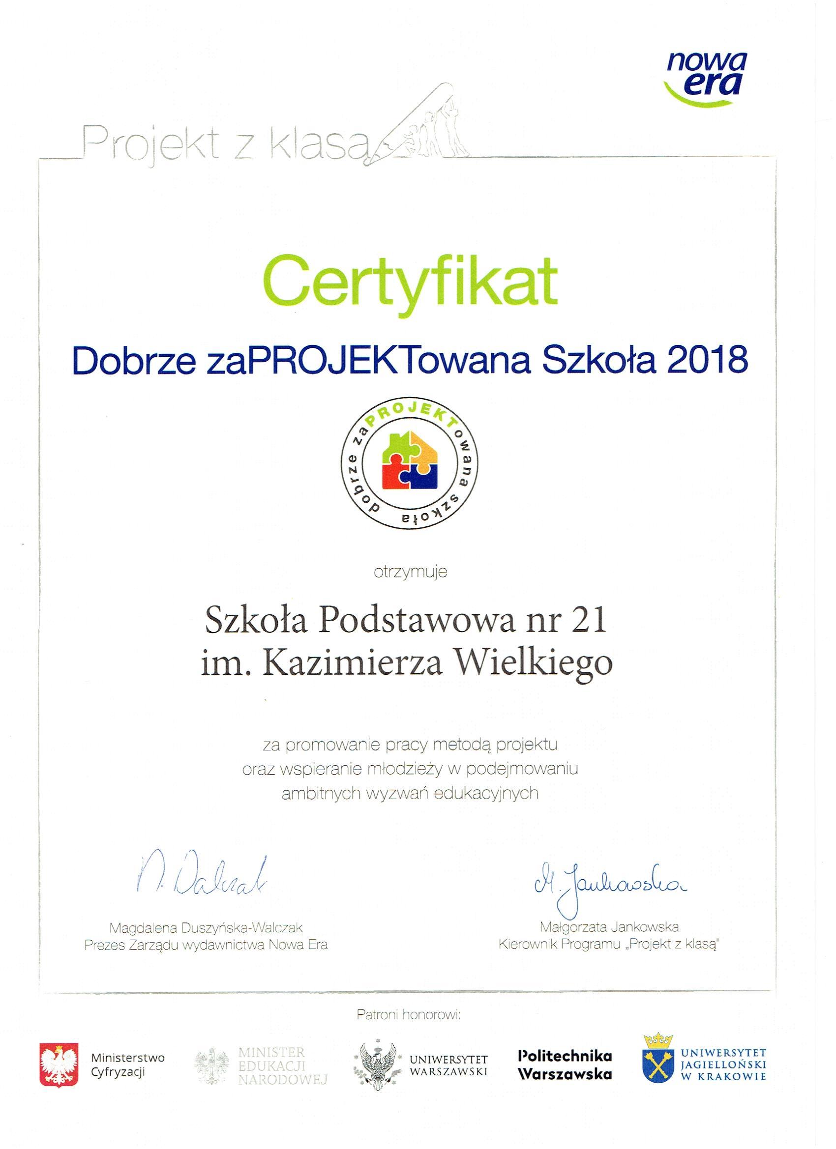 Nasz pierwszy certyfikat
